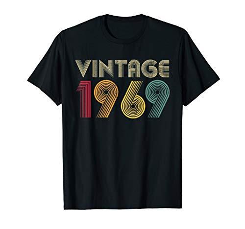 50th Birthday T Shirt Gift Vintage 1969 Classic Men Women