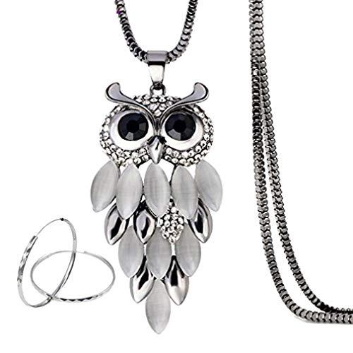 Modogirl Summer Owl Long Pendant Necklace for
