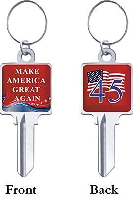 Make America Great Again & 45th President Custom House Key Blanks