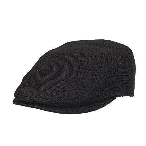 Dockers Men's Ivy Newsboy Hat, Black Casual, Small/Medium -