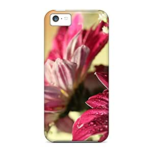 Protective Tpu Case With Fashion Design For Iphone 5c (red Gerbera Nature)