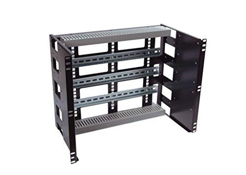 (RCB1132BK15 8U Rackmount Din Rail Panel for Industrial EIA310 19 inch Relay Rack and 4 Post Server Rack)