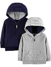 Baby Boys' 2-Pack Fleece Full Zip Hoodies