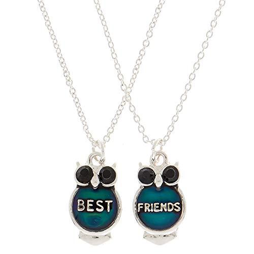 Claire's Girl's Best Friends Mood Owl Pendant Necklaces - 2 Pack