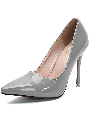 GGX/Damen Schuhe Fall Heels/spitz Zehen/geschlossen Zehen Clogs & Pantoletten Kleid Stiletto Ferse andere weiß/grau/Burgund white-us6.5-7 / eu37 / uk4.5-5 / cn37