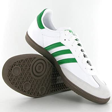 green adidas samba trainers