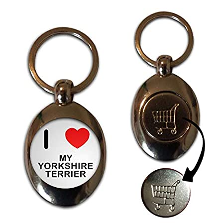 I Love My Yorkshire Terrier – £1/€1 Metal Shopping Coin Token Key Ring 41P5ZCBWcCL