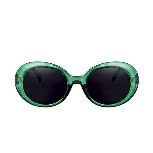 de de Retro Hop Redondas Sol Gafas de Sol la Color de Gafas de Cara DT Gafas 4 Femeninas ovaladas 3 Harajuku Sol de Hip ERUn0w6qx