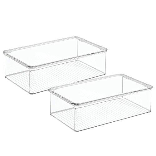 InterDesign Clarity Bathroom Storage Box Organizer for Vi...