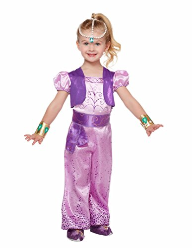 Nickelodeon Shimmer and Shine - Shimmer Costume - Toddler / Child (5T - 6T) (Nick Jr Halloween Costumes)