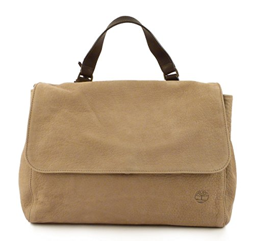 Borsa donna postman Timberland M5509 beige F45 Made in Italy