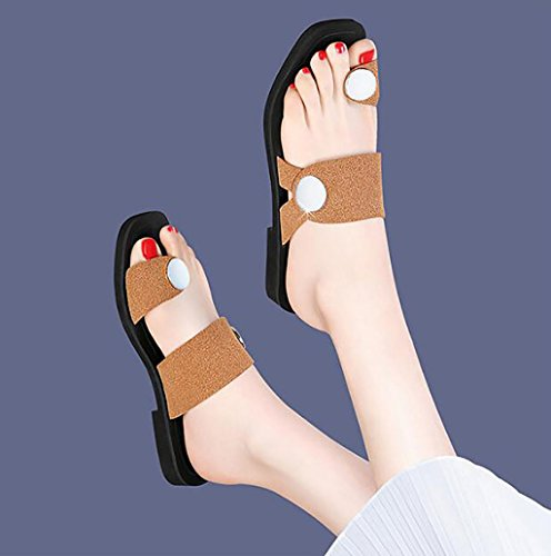 Versión Y De Sandalias sandalias B B Femeninas Las Coreana color Planas Verano Planas 39 Tamaño Elegantes Fafz Femenino Salvajes Moda Zapatillas Usan ZY5gWB5q