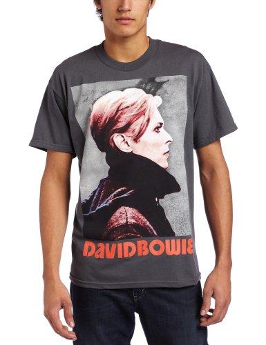 Men's David Bowie Low Portrait T-Shirt, Gray, S, M, L, X-Large