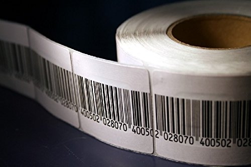 Checkpoint Compatible 8.2 MHz RF Label 4x4cm, Fake Barcode, 1K per Roll, 3K Total