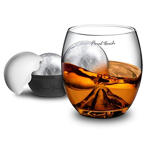 Final Touch On The Rock Glass with Ice Ball Maker (Best Whiskey On The Rocks)