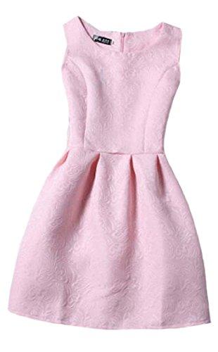 Short Summer Jaycargogo Sleeveless 2 Sundress Women's Dress Solid Waist wqwZIg1C4
