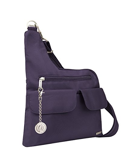 Keychain Messenger Charm Classic purple Metal Anti Crossbody Bag Purse Handbag Travelon theft XvOwqXg