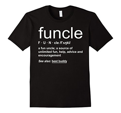 Mens Funny Funcle Word Definition Uncle Gift T-shirt XL Black