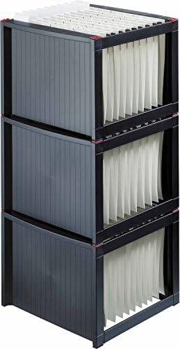 Helit H6110084 - Caja de archivo (para carpetas colgantes, 260 x 360 x 380 mm), color gris y blanco: Amazon.es: Oficina y papelería