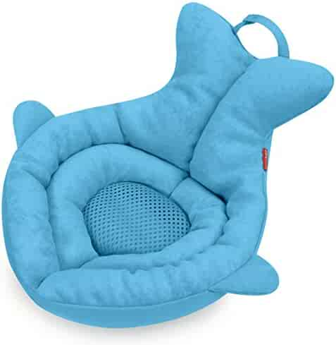 Skip Hop Moby Softspot Sink Infant Bather And Baby Bath Cushion, Moby Blue