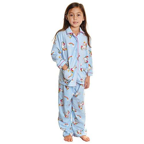 Angelina Girl's Cozy Fleece Pajama Set #56JR_Unicorn_XS]()