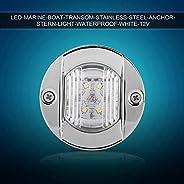 Yctze Navigation Lights Marine Boat 12V Transom White LED Stainless Steel Waterproof Anchor Stern Navigation L
