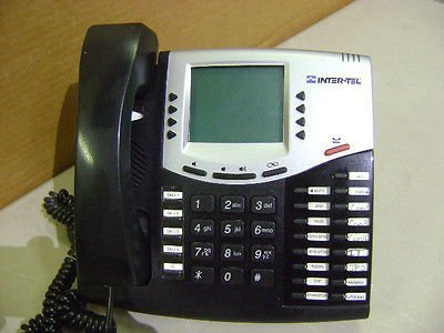 Inter-Tel 8662 Axxess 550.8662P Black Ip Voip Lcd Display Phone Telephone V2.X (Inter Tel Voip)