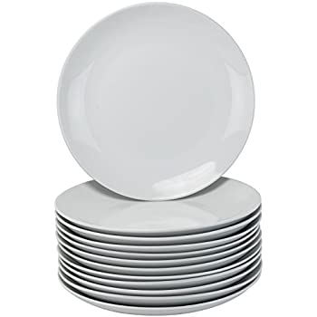 10 Strawberry Street Coupe Round Catering Packs - Set of 12-10.5  Dinner Plates - White  sc 1 st  Amazon.com & Amazon.com | Thompson Pottery 8 Piece Basic Dinner Plates White ...