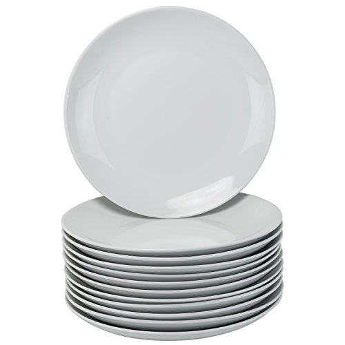 (10 Strawberry Street CATERING-12CPDIN Dinner Plates, White )