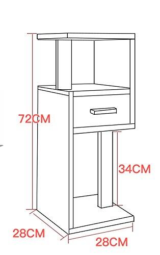 72CM simple wood floor flower stand / multi-functional balcony rack / indoor living room flower rack / bookshelf ( Color : G )