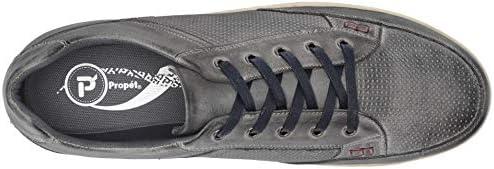 Propet Men's Lucky Sneaker, Grey, 11 5E US