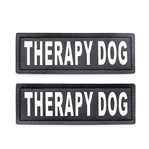 (Industrial Puppy Therapy Dog Patch with Hook Back and Reflective Lettering - Therapy Dog Tag for Therapy Dog Vest Patch for Therapy Dog or Therapy Dog in Training)