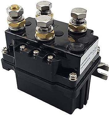 Winch Solenoid Contactor Relay For 8000lb-12000lb for ATV UTV TRUCK 12V 500Amp