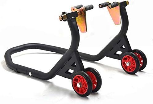 Professionale Portata 400 KG Cavalletto Anteriore Alza Moto Regolabile Con Supporti Regolabile e ruote in Nylon//Gomma