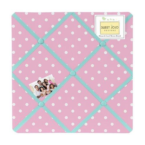 Pink Polka Dot and Turquoise Skylar Fabric Memory/Memo Photo