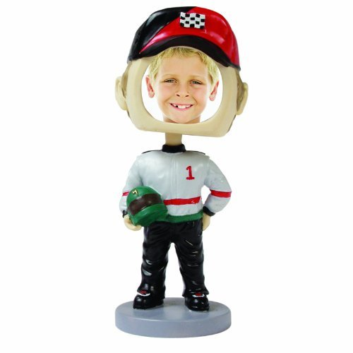 (Race Car Driver Photo Bobble Head)