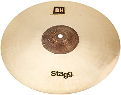 """Stagg 14/"""" DH EXO Double Hammered Medium Thin Crash Cymbal DH-CMT14E"""
