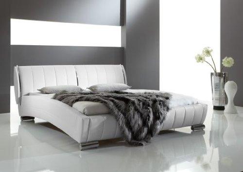 Meise Möbel 343-10-40000 Polsterbett Vino mit Kunderlederbezug, Liegefläche circa 160 x 200 cm, weiß