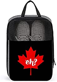 Eh Canada Maple Travel Golf Shoe Bag Waterproof Carry Tote Bag For Sport Tennis And Other Accessories