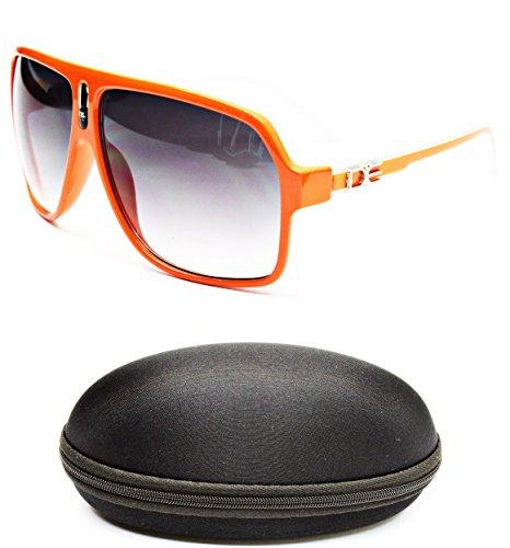 D1045-cc Designer Eyewear Turbo Aviator Sunglasses (149 Orange/White, - Sunglasses White Dg