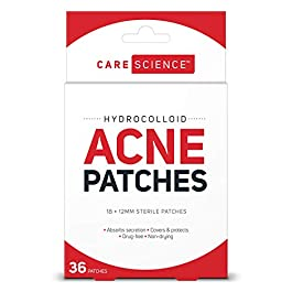 Care Science Hydrocolloid Acne Pimple Patch, 18 Count | Waterproof Invisible Skin Treatment to Cover and Absorb Acne, Pimples, Blemishes & Cold Sores by The Leader in First Aid