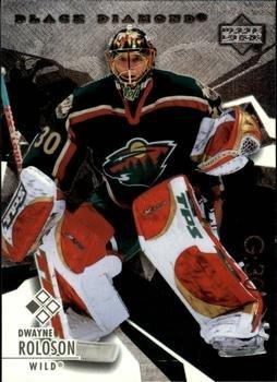Dwayne Roloson 2003 Black Diamond NHL Hockey Card #34 Minnesota Wild (Upper Deck Nhl 2004)