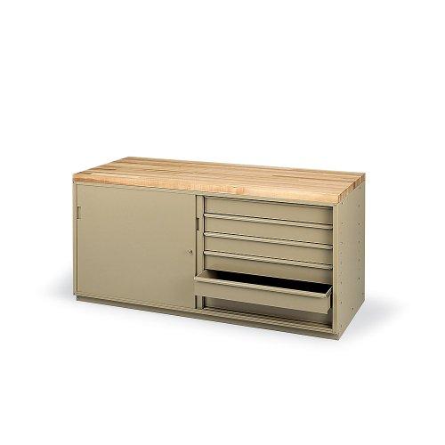 "Sliding Doors For Modular Workbenches - For 60"" Cabinet"