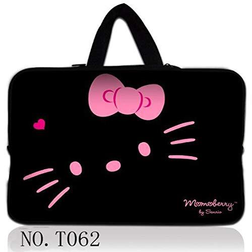 Neoprene Laptop Bag for Notebook Netbook Sleeve Cases Tablet Pouch for 13.3 7 8 10 12 13 15 15.6 17 (Netbook Hello Bag Kitty)