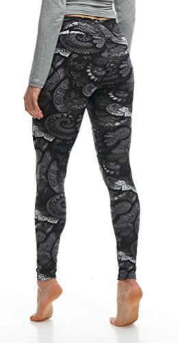 LMB Lush Moda Extra Soft Leggings with Designs- 505YF Floral Abstract Yoga by LMB (Image #8)