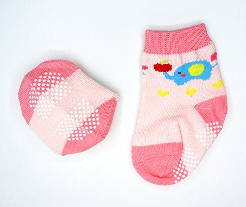 AUTHENTIC Liwely 6 Pairs Baby Girls Socks Anti Slip Skid