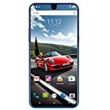 Chinaware X23 6.2 Inch Dual HD Camera Water Drop Screen Smartphone with GPS - Big 3800mAh Battery,New Portrait Mode,Fashion Design - Support Face Unlocking and Fingerprint Unlocking (Blue)