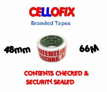 2 Rolls Of CONTENTS CHECKED & SECURITY SEALED Printed Packing Tape 48mm x 66M Globe Packaging