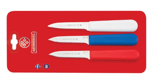 Mundial SCRWB5601-3 3-1/4-Inch Paring Knife Collection, Set of 3, Red by Mundial