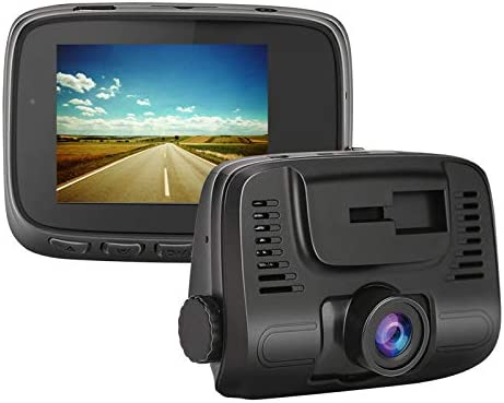 Motion Detection,Parking Monitoring Loop Recording E-ACE Dash Cam 2 IPS Screen 1080P FHD Driving Recorder 140/°Wide Angle Lens Discreet Design Video Recorder with G-Sensor W106